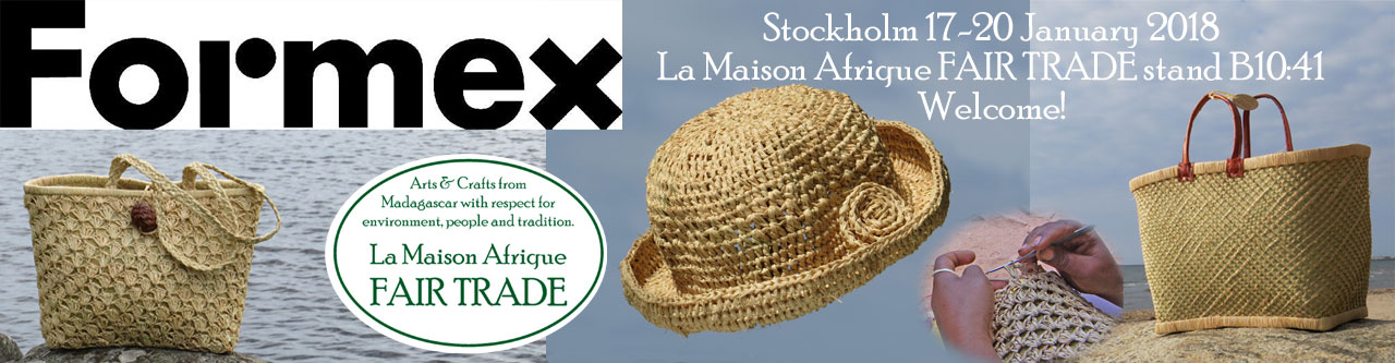 formex 2018 exhibitor La Maison Afrique FAIR TRADE
