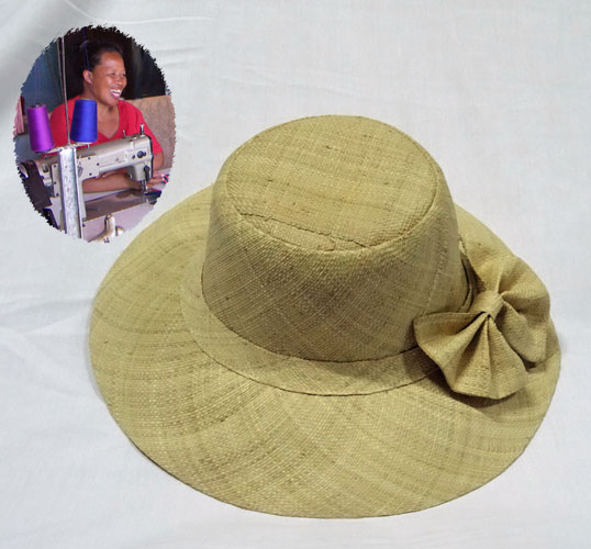 Hat with large bow